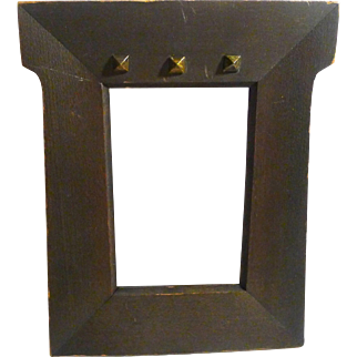 Arts and Crafts Wood Frame with Metal Studs