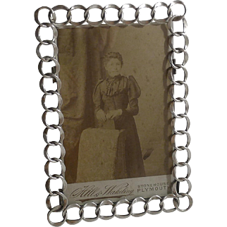 Silver-Plated Antique English Ring Picture Frame
