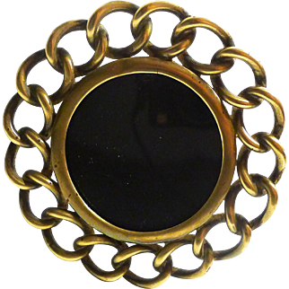 ROUND Brass Antique Ring Picture Frame  D.R.G.M.