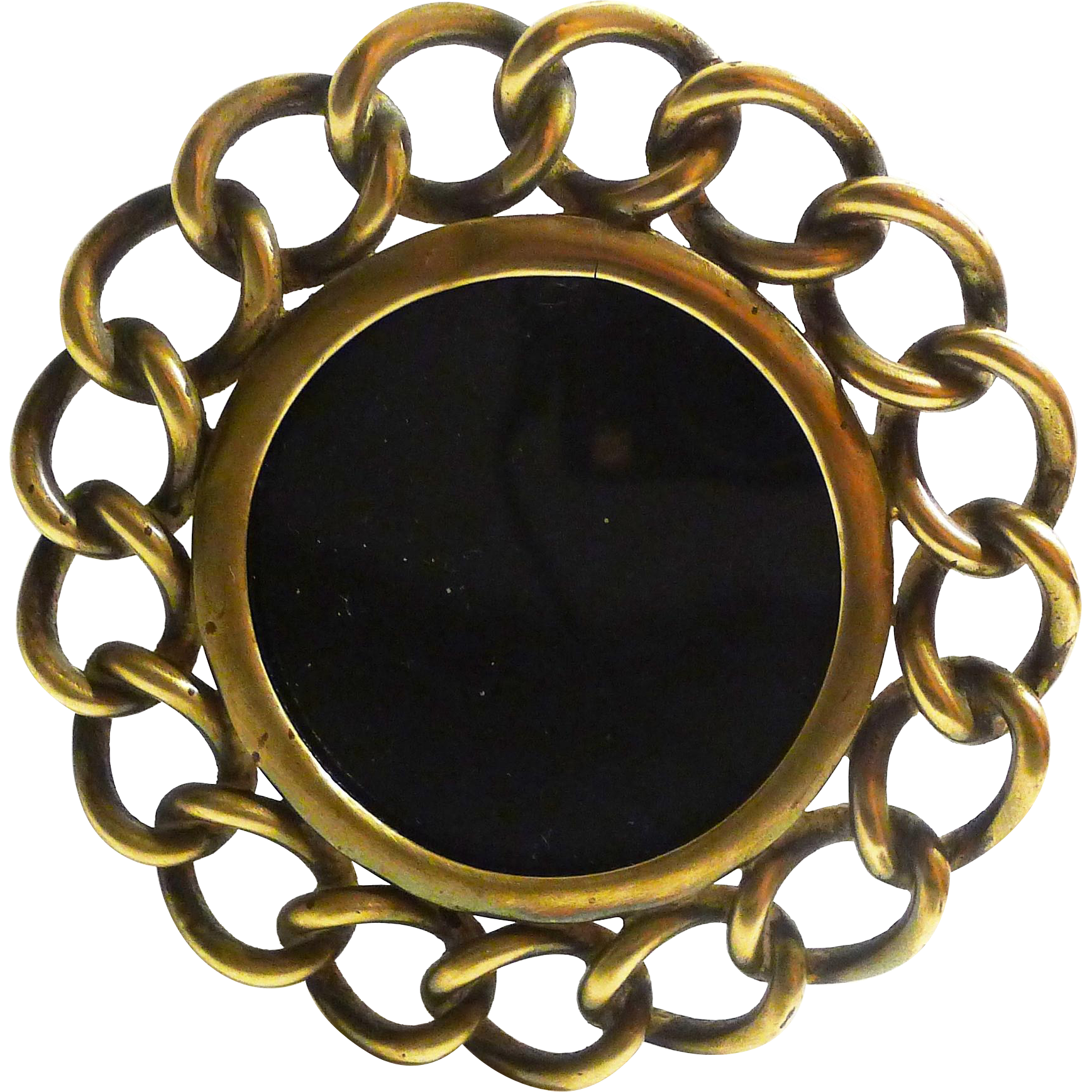 Round brass antique ring picture frame d r g m from