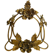 FRENCH Art Nouveau Brass Flower Picture Frame