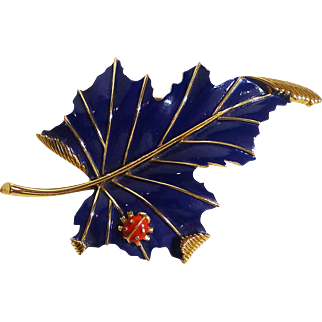 TRIFARI Ladybug Cobalt Enamel Pin