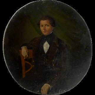 1845 Oval Portrait signed C. Moller