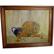 Fruit Painting Still-life with Blue Pitcher