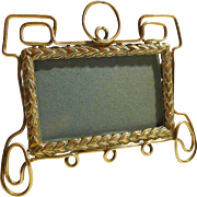 Miniature HORIZONTAL Antique English Brass Picture Frame
