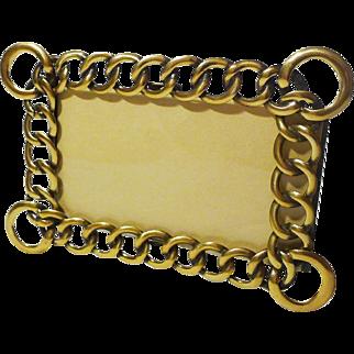 Horizontal Vertical D.R.G.M. Brass Ring Frame 1890s