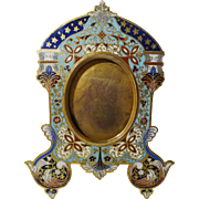 CHAMPLEVE ENAMEL Antique French Bronze Frame