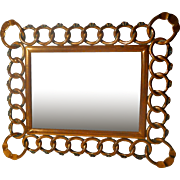 COPPER D.R.G.M. Horizontal Vertical Antique Picture Frame