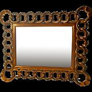 COPPER D.R.G.M. Horizontal Vertical Antique Picture Frame