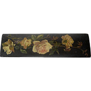 19th C. Papier Mache Floral Pen Box