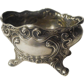 ART NOUVEAU Sterling Open Footed Salt
