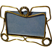 Miniature Horizontal Brass Wreath Motif Picture Frame