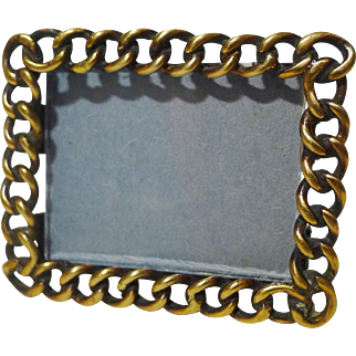 Tiny Horizontal Brass Ring Frame 1880-1900