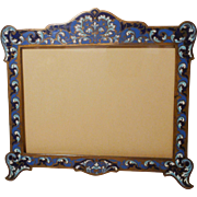 HORIZONTAL French Bronze Champleve Enamel  Picture Frame