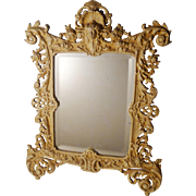 "BRADLEY & HUBBARD Painted Iron Frame with Mirror 16.5"" Tall"