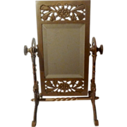 Swivel AESTHETIC Movement  American Brass Beveled Mirror