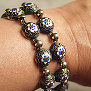 Russian pre revolutionary cloisonne bracelet