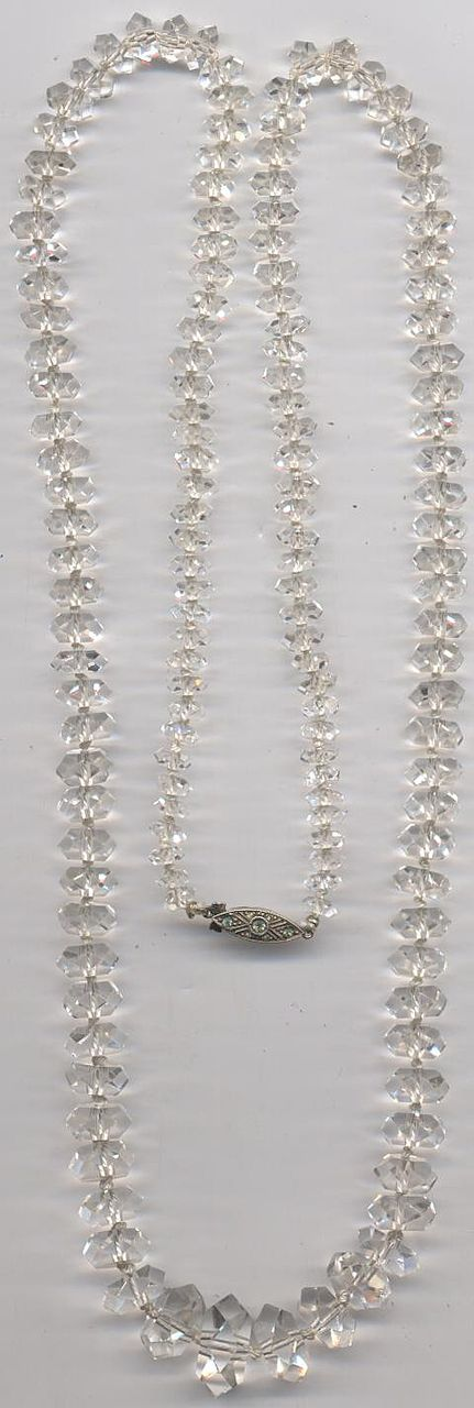 Long Luxurious Rock Crystal necklace