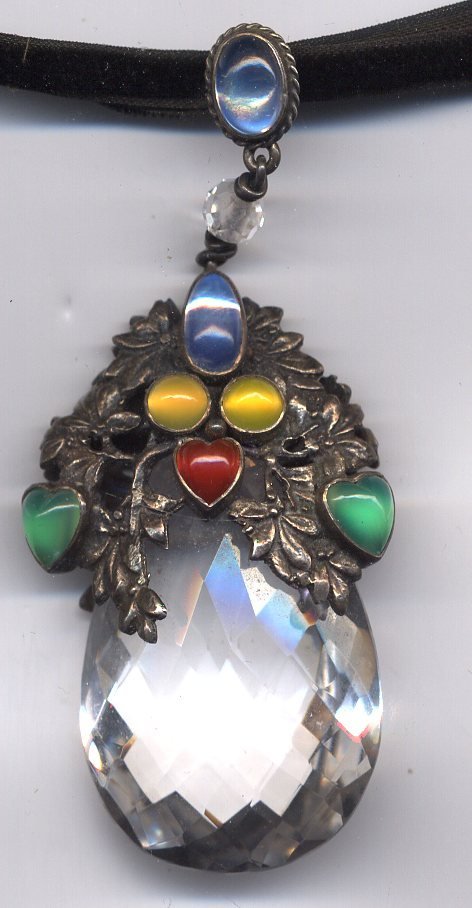 Amy Sandheim Arts Amp Crafts Rock Crystal Pendant From