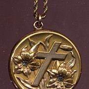 Victorian Lily and Cross Locket