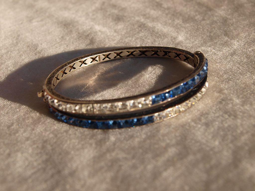 Sterling Channel set Bracelet