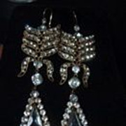 Incredible Paste  Shoulder duster earrings from the 20's
