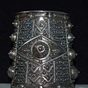 Italian Huge Silver Cuff Bracelet Pre 1944