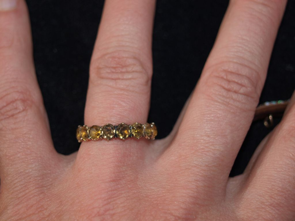 Georgian Citrine and Gold Eternity Ring