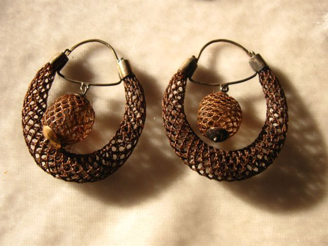 Victorian Woven Hair Hoop earrings