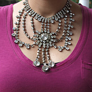 Massive 1950's  Show girl French Bib Necklace