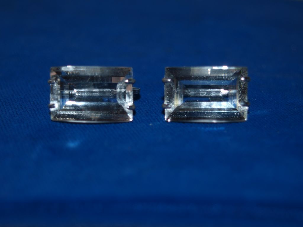 Japan Sterling Rock Crystal Earrings