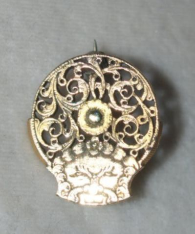 Georgian Watch Cock Pin With Mythical Creature