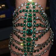 Massive French Rhinestone Bracelet