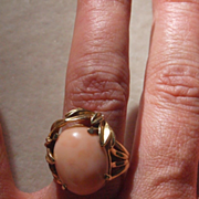 Angel Skin Coral Ring in 14k