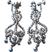 Early Victorian Cut Steel Girandole Earrings