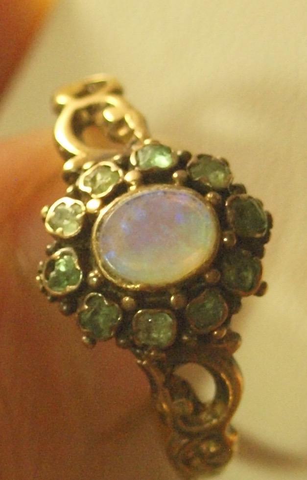 Georgian Emerald and Opal Ring