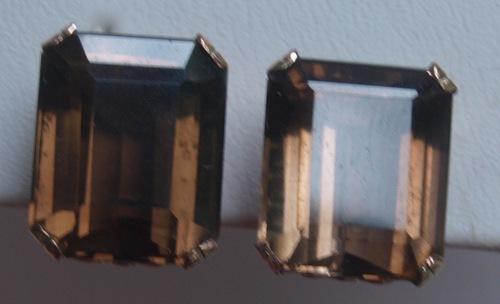 14k Rose Gold Smokey Quartz Earrings