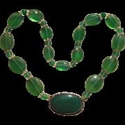 1930's Germany Chrysoprase Necklace
