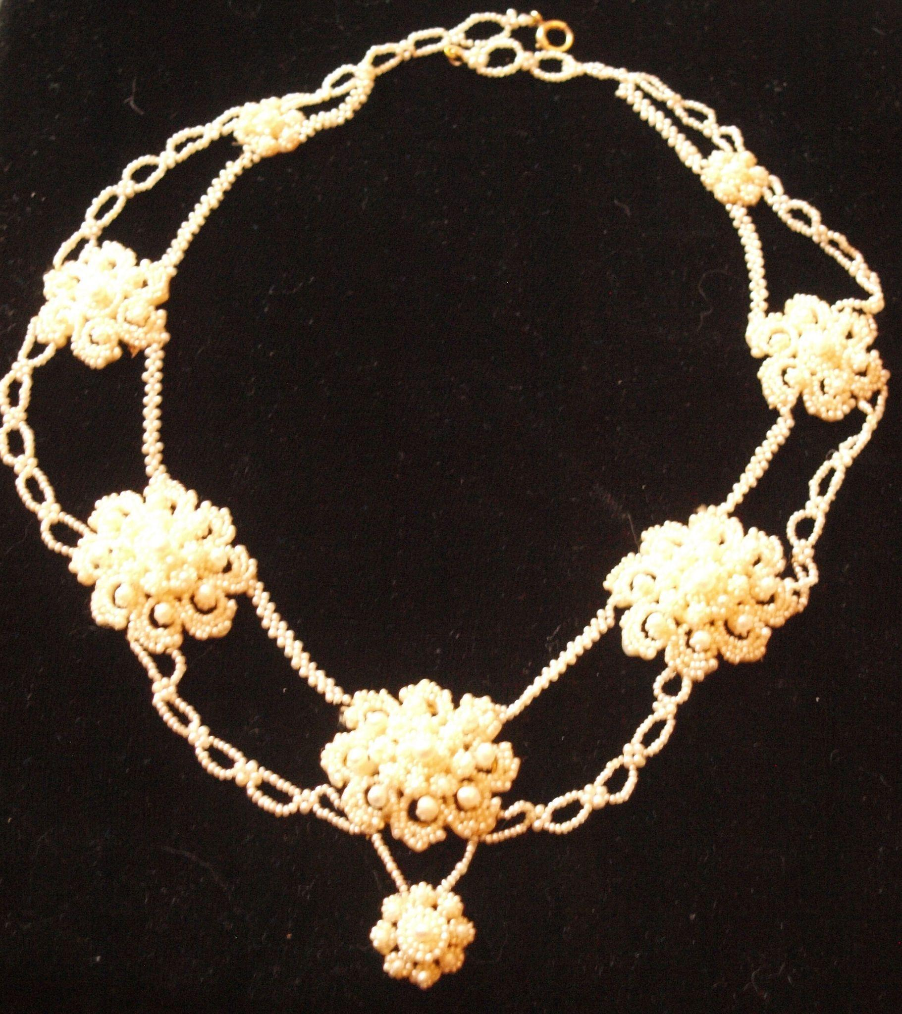 Elaborate Georgian Natural Pearl Necklace