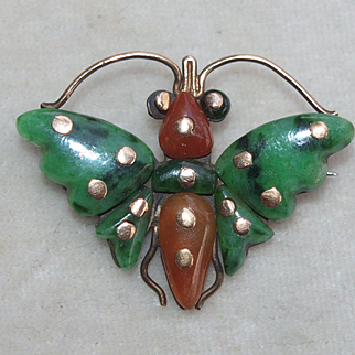 Early Chinese Jade Butterfly Pin