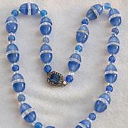 Art Deco Chalcedony Rock Crystal Necklace