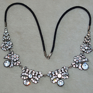 Georgian Paste Necklace With Bows