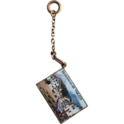 Victorian French Enamelled Postcard Charm