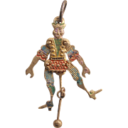 Victorian Articulation Mechanical Court Jester Charm