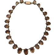 Victorian Cairngorm Smoky Quartz Riviere Necklace