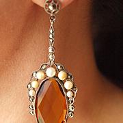 Unbelievably Beautiful Flapper Sterling Dangle Earrings