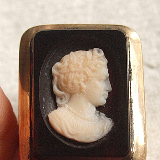 Early Victorian Agate Cameo Ring