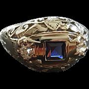 Belle Epoch 18k Diamond Sapphire Ring