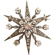 Victorian Paste Star Pin In Silver