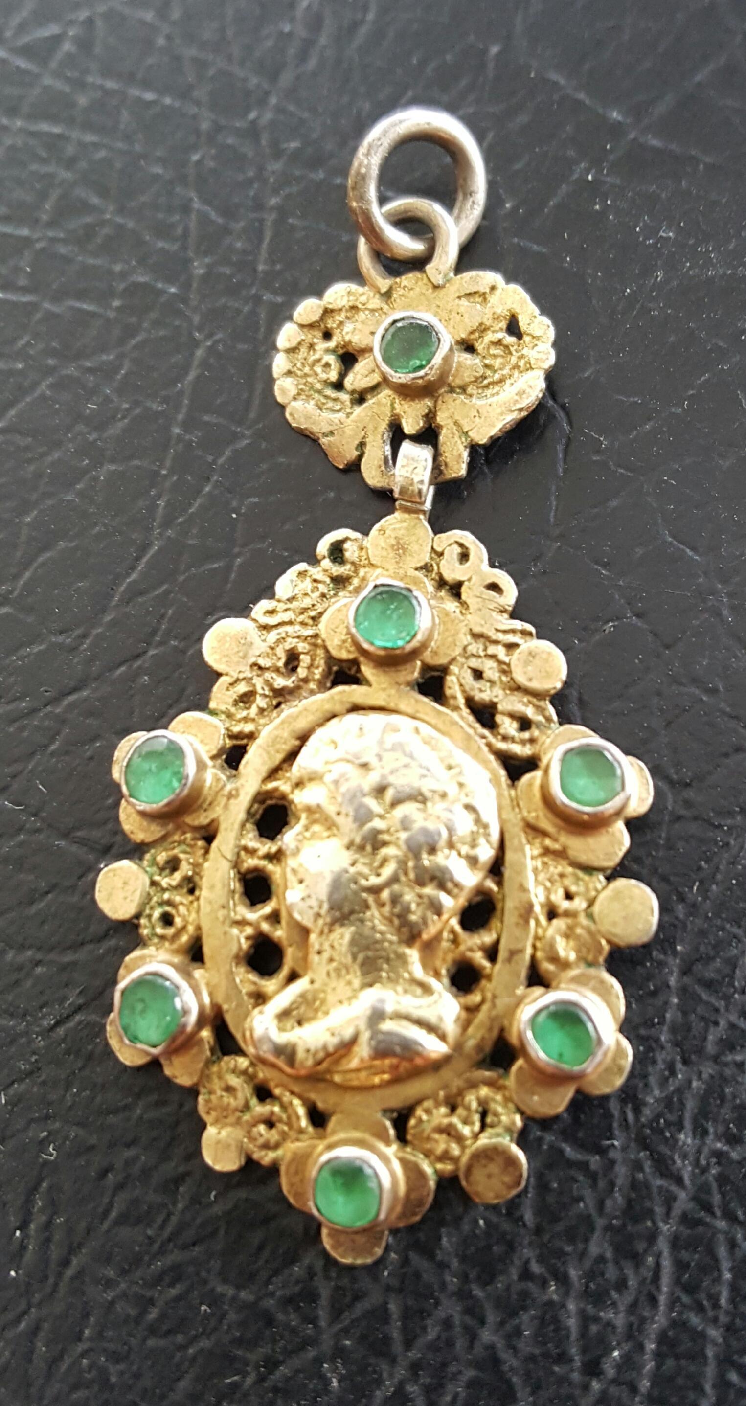 Renaissance Pendant With Pastes